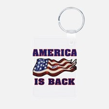 AMERICA IS BACK Keychains