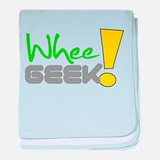 Whee! Geek baby blanket