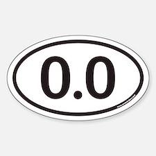 0.0 Euro Oval Bumper Stickers