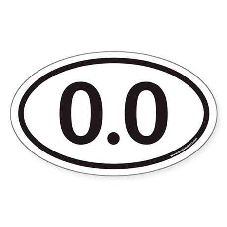 0.0 Euro Oval Sticker