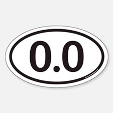 0.0 Euro Oval Stickers