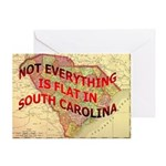 Flat S Carolina Greeting Card