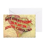 Flat S Carolina Greeting Cards (Pk of 10)