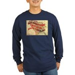 Flat S Carolina Long Sleeve Dark T-Shirt