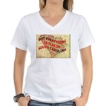 Flat S Carolina Women's V-Neck T-Shirt