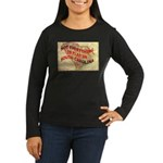 Flat S Carolina Women's Long Sleeve Dark T-Shirt