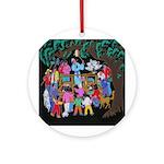 The Village Peddler Ornament (Round)