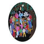 The Village Peddler Oval Ornament
