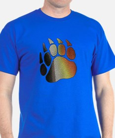 BEAR PRIDE PAW/TEXTURES 2 T-Shirt