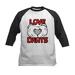 Love Darts Kids Baseball Jersey