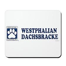 WESTPHALIAN DACHSBRACKE Mousepad