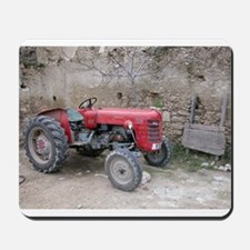 Red Tractor and Dirt Wall Mousepad