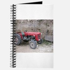 Red Tractor and Dirt Wall Journal