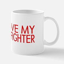 Firefighter: I Love My Firefighter (Red) Mugs