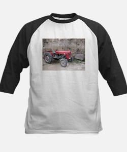 Red Tractor and Dirt Wall Tee