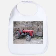 Red Tractor and Dirt Wall Bib