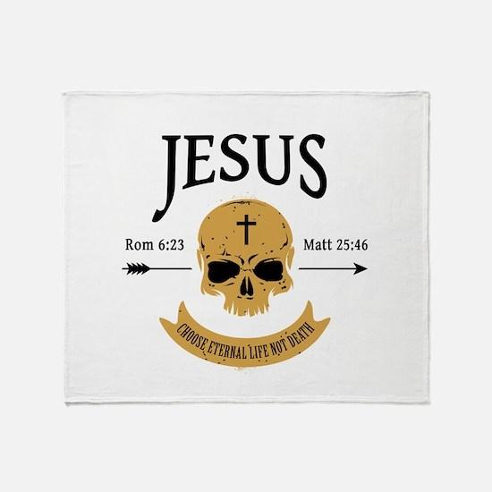 Jesus Skull Throw Blanket