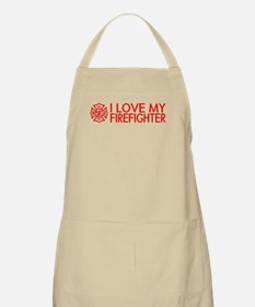 Firefighter: I Love My Firefighter (Red) Apron
