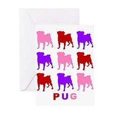 Valentine Pugs 1 Greeting Card