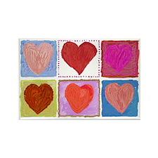 Lotsa Hearts Rectangle Magnet