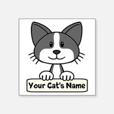 "Personalized Black/White Ca Square Sticker 3"" x 3"""