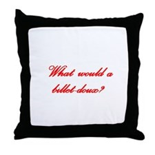 Billet-doux Throw Pillow