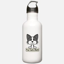 Personalized Black/Whi Water Bottle