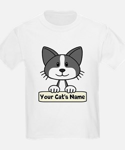 Personalized Black/White Cat T-Shirt