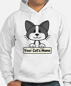 Personalized Black/White Cat Jumper Hoody