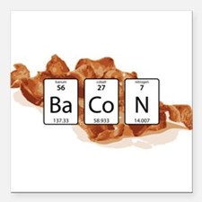 """BaCoN Periodic Table Square Car Magnet 3"""" x 3"""""""