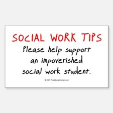 Social Work Tips-Students Rectangle Decal