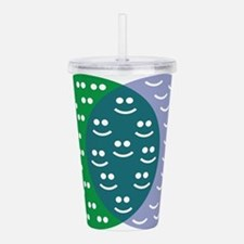 Happy Face Venn Diagra Acrylic Double-wall Tumbler