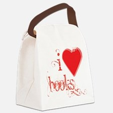 I heart Books Canvas Lunch Bag