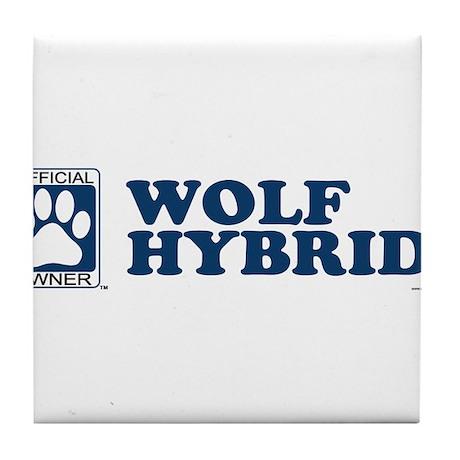 WOLF HYBRID Tile Coaster