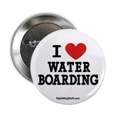 """I Love Water Boarding 2.25"""" Button (10 pack)"""