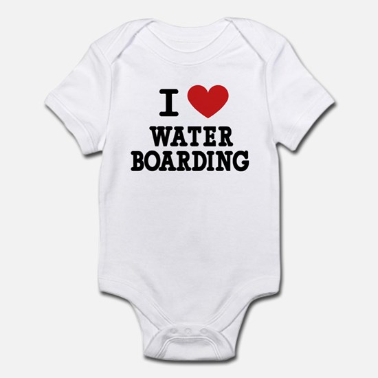 I Love Water Boarding Infant Bodysuit