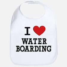 I Love Water Boarding Bib