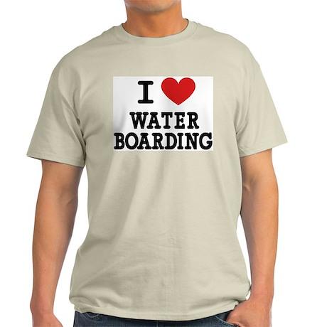 I Love Water Boarding Light T-Shirt