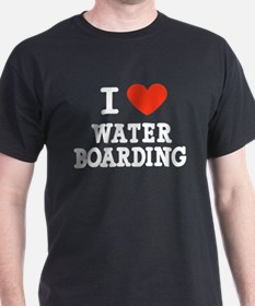 I Love Water Boarding T-Shirt