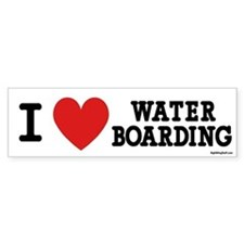 I Love Water Boarding Bumper Bumper Bumper Sticker