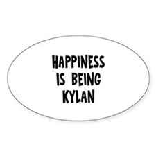 Happiness is being Kylan Oval Decal