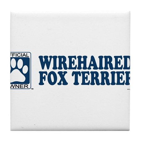 WIREHAIRED FOX TERRIER Tile Coaster