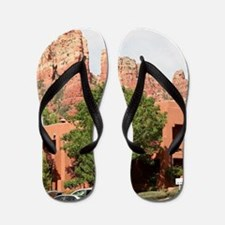 Rocks and hotel, Sedona, Arizona Flip Flops