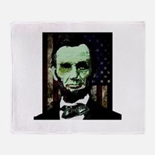 Abraham Lincoln - Zombie Throw Blanket