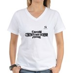 Contents Under Extreme Pressu Women's V-Neck T-Shi