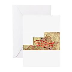 Flat Virginia Greeting Cards (Pk of 10)