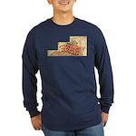Flat Virginia Long Sleeve Dark T-Shirt