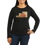Flat Virginia Women's Long Sleeve Dark T-Shirt