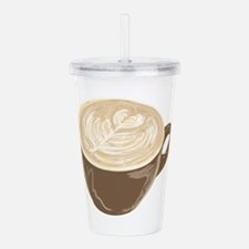 love latte art Acrylic Double-wall Tumbler