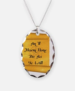 An it Harm None Do as Ye will Necklace